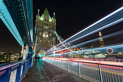 London Tower Bridge light trails (Christine's Phillips (Christine's observations)) Tags: london lighttrails lightstreams towerbridge isfallingdown theshard england uk brexit nightphotography speed rush bus londonbus tourist black colourful angled horizontal nopeople business explore exploring backpack believeitornot christinephillips