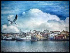 Grundsund, a village on the swedish westcoast... (iEagle2) Tags: grundsund sweden swedishwestcoast fishingboat fishingvillage atlantic ll628