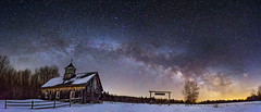 Milky Way Over Hardwood Ranch (Kent Shaw Photography) Tags: night milkyway winter barn fence vermont vt