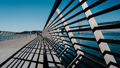 Through lines (Panda1339) Tags: sf 28mm leicaq summiluxq sanfrancisco architecture lines blue pier14 usa california