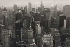 Midtown Manhattan - Times Square Aerial Black and White Photo (Performance Impressions LLC) Tags: midtownmanhattan timessquare buildings aerialphotograph aerialphoto blackandwhite bw fineart nyc manhattan grey gray weather mood dreary hm metlife broadway skyscrapers midtown art city newyork unitedstates usa 14737545952