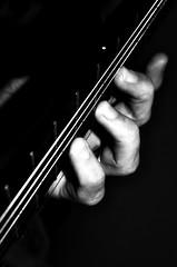 Alt-fingering (B&W) (Occasionally Focused) Tags: guitar classical lagrima music pentax justpentax k30 smcpdal35mmf24al blackandwhite bw tonality fingers strings