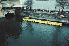 Prague (cranjam) Tags: olympus μmjuii mjuii film adox colorimplosion prague praha praga czechrepublic repubblicaceca czechia river fiume vltava moldava boats barche