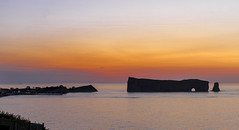 Sunrise on Percé (Danny VB) Tags: sunrise percé gaspesie quebec canada canon eos 7d summer sigma 30mm 30mm14 été leverdusoleil lever soleil rocherpercé village house silhouette lights ocean water