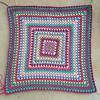 Craft Smart Value yarn fuchsia (crochetbug13) Tags: crochet crocheted crocheting crochetsquare crochetblanket crochetafghan crochetbabyblanket grannysquare grannysquareblanket grannysquarebabyblanket grannysquareafghan
