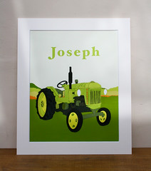 Joseph personalised tractor print (suesteggall@btopenworld.com) Tags: windsock press tractor print
