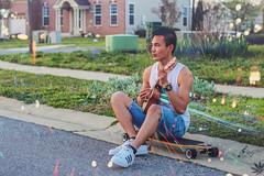To the horizon (Jay Salazar) Tags: model ukulele music adidas longboard hipster