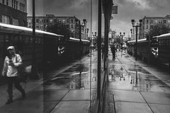 life reflections (R*Wozniak) Tags: blackwhite bw blackandwhite city reflection water puddles rain street nikond750 nikon 35mm urban citylife mirror