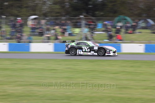 Andy Wilmot in the Ginetta GT4 Cup at the British Touring Car Championship 2017 at Donington Park