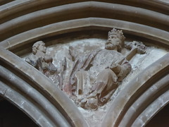 David & King Saul? (Aidan McRae Thomson) Tags: worcester cathedral worcestershire medieval carving restored