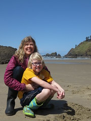 beach buddies (carolyn_in_oregon) Tags: crescentbeach cannonbeach pacificocean ecolastatepark coast alicia chiron