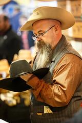 The Milliner (ranzino) Tags: farmshowcomplex harrisburg pa pafarmshow pennsylvaniafarmshow cowboyhat hatmaker pennsylvania unitedstates us