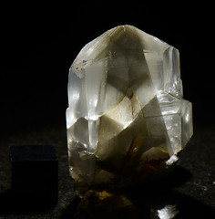 Calcite over Calcite  NHMLA (Stan Celestian) Tags: calcite phantomcrystal phantom