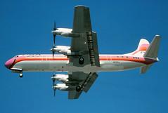 N6130A PSA Lockheed L-188 Electra at KLAX (GeorgeM757) Tags: psa pacificsouthwestairlines electra l188electra lockheed mcculloch n5532 turboprop n6130a aircraft alltypesoftransport aviation georgem757 klax