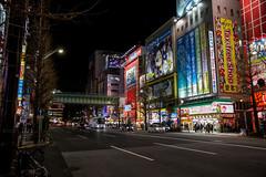 Akihabara, Tokyo (Nadialeesi) Tags: akihabara asia japan giappone japon beauty canon canoneos7d urbanbeauty urbanjungle travel travelphotography trip wanderlust wonderlust view sky night twilight sunset neon light lights