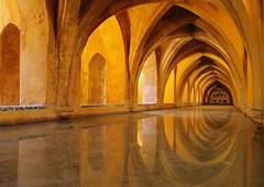 Baths of Lady Maria de Padilla (dayman1776) Tags: spain alcazar game thrones bath pool arch espana sevilla palace wallpaper
