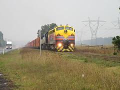 B75, T395 & VL356 - Maryvale Paper Train - 22.4.17 (Alex's Train Channel) Tags: maryvale paper mill train broad gauge freight b75 ssr t395 steamrail cfcla chicago vl356 qube logistics vline 9476 bairnsdale line rail railway railways victoria australia 2017 goods