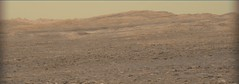 Layers of Dark Material in the Hills (sjrankin) Tags: 24april2017 edited nasa mars msl curiosity galecrater output colorized bayerdecoded 1668ml0086500010700615k00dxxx hills mountains layers