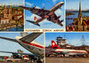 Switzerland - Zürich - DC-8 - Caravelle - SWISSAIR [HB-IDA] [HB-ICY] - front (Ye-Di) Tags: 60s postcard cartolina douglas dc8 swissair switzerland die schweiz svizzera suisse jet turbofan jetliner airliner airport aircraft airplane ansichtskarte krüger zürich zurich zurigo hbida dc6 sudaviationcaravelle hbicy vw pritschenwagen caravelle splitview church flughafen transporter aviation dieschweiz cartepostale