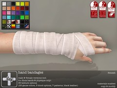 [ht+] hand bandages (Corvus Szpiegel) Tags: hate this ht medic medical original mesh hand bandage wrist wrap memento mori april may 2017 gauze sprain lower arm forearm hospital doctor nurse patient accident injury hurt blood pain fight martial arts combat brawl sucker punch slit cut