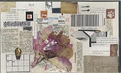 Gullivers Reise durch die Zeit (alois_roehrl) Tags: malerei collage oldbookcover acryl buchdeckel