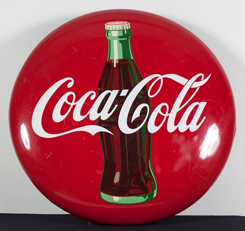 Coca-Cola Button Sign ($868.00)