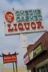 Quick Stop Liquor, Los Angeles, CA (Robby Virus) Tags: losangeles california la ca checks cashed 12 neon sign signage liquor store business alcohol booze quick stop