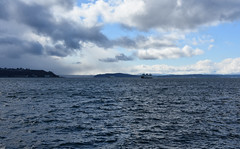 Puget Sound (Adventurer Dustin Holmes) Tags: elliotbay pugetsound seattlewashington pacificocean ocean 2017 seattle seattlewa water washington sky clouds landscape scenic beautiful view boat ship ferry