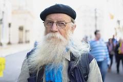 John: #5/100 Strangers (Tom Houlihan) Tags: 100strangers portrait streetportrait street streetphotography beard naturallight 35mm nikon bokeh beret glasses london primelens protest eu march standupfortheeu