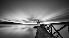 Cloudscape (jarnasen) Tags: d810 nikon nikkor 1635mmf4 wideangle tripod longexposure le leefilters nd10 bigstopper mono monochrome bnw blackandwhite pier light lighthouse mem water sky clouds movingclouds wooden nordiclandscape landscape landskap götakanal canal östergötland sweden sverige geo geotag copyright järnåsen jarnasen jetty nature outdoor scandinavia scenery explore explored