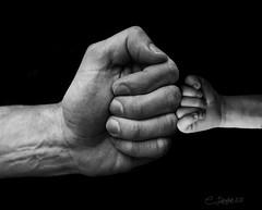 FistBump (clabudak) Tags: dad son baby fist bump newborn blackwhite