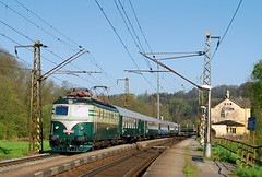 "E499.085, Brandýs nad Orlicí, mim. Ex 10005 ""Ostravan"" (Praha Hl.n. - Ostrava střed) (petrdungl) Tags: brandys czech railway train railroad retro bobina vlak ostravan"