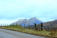 Fence Friday. (artanglerPD) Tags: mountains snow fence gate road ullapool