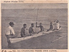 Mapoon Mission Series postcard - Paddling Their Own Canoe - 1904 (Aussie~mobs) Tags: aborigine mapoon mission northqueensland australia 1904 postcard canoe paddling presbyterianchurch gulfofcarpentaria native indigenous