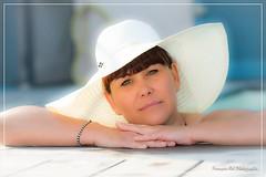 I need sun (nathaliedunaigre) Tags: portrait femme woman soleil sun piscine swimmingpool hat chapeau sainttropez côtedazur frenchriviera