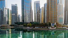 Jumeirah Lake (Parcivall) Tags: dubai jumeirah lake city view panorama