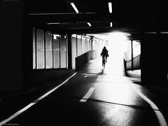 The end of sunshine (René Mollet) Tags: spring sun sunshine bicycle velo underground unterführung blackandwhite bw basel blackwhite dark monchrom monochromphotographie mono street streetphotography shadow silhouette renémollet streetart streetphotographiebw