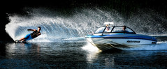 Shimmer (photo by marko) Tags: waterskiing waterskier waterski water swerve spray sport speed slalom skiing skiable ski reflection photobymarko nikon nikkor naturallight malibuboats malibu 70200vrii 70200f28vrii 70200f28 7020028 70200 70200f28vr 2016 d500 adrenaline waterskiphotography malibuboat arrondavies lifeofawaterskier lessropemorebuoys morebuoyslessrope carvediem threesisters wigan luminar