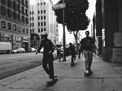 The LA Skaters•#streetphotography #sonyshots (redshutterbugg) Tags: discoverla passion love sonydscrxii blackandwhite skaters 500px dtla streetphotography sonyshots