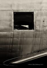 Square Window (rhfo2o - rick hathaway photography) Tags: rhfo2o canon canoneos7d brooklands brooklandsmuseum weybridge surrey bw blackandwhite mono vickers viking gagru window wing