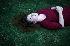 Haze (Jessica-H-Ingram) Tags: jessica jessicahingram jesshingram ingram h photography photograph slumber snooze sleep green dreamy dramatic portrait self horizontal closed eyes girl