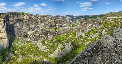 Landscape in Meteora