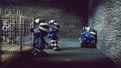 Scandal Smurf Prison Photos. Smurf cage fight (2) (torq42) Tags: smurf schlumpf prison shocking conditions scandal