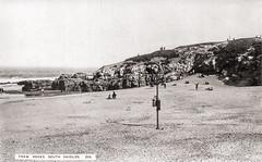 Trow Rocks, South Shields (SouthShieldsPostcards) Tags: trow rocks beach south shields postcard old photograph photo sea sand