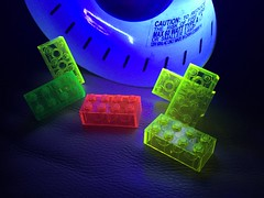 Neon Bricks with blacklight (nathan.francis49) Tags: lego 2x4 3001 blacklight neon fluorescent rare htf cool dark brick block