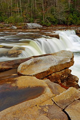 High Falls: Rocks and falls (Shahid Durrani) Tags: high falls monongahela national forest cheat river west virginia