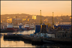 Aberdeen Harbour (Gary Watt) Tags: aberdeen scotland harbour sunset skyline