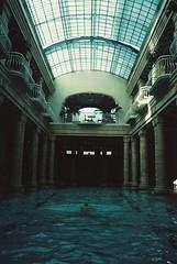 Budapest (cranjam) Tags: olympus μmjuii mjuii film adox colorimplosion budapest hungary ungheria gellértbaths gellért baths pool piscina swimmingpool