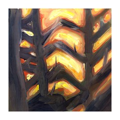 First painting - oil through branches2