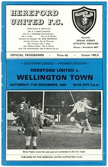 HEREFORD UNITED v WELLINGTON TOWN 1965-66 (bullfield) Tags: herefordunited wellingtontown bulls shropshire football